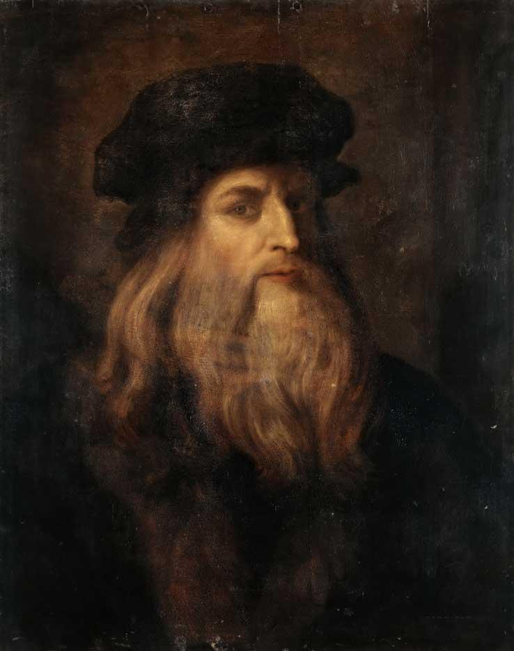 Портрет Леонардо да Винчи. Аноним 17 век