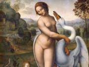 Leonardo da Vinci. Леонардо да Винчи Леда и Лебедь (старинная копия утраченной работы)