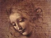 Леонардо да Винчи. Голова женщины 1508