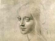 Леонардо да Винчи. Эскиз ангела к Мадонне в скалах 1483-86