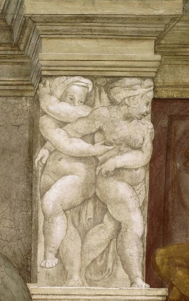 """Микеланджело Буонарроти (Michelangelo Buonarroti), """"Путти (Фреска)"""""""
