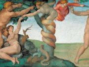 """Микеланджело Буонарроти (Michelangelo Buonarroti), """"Грехопадение и Изгнание из рая """""""