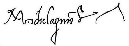 "Микеланджело Буонарроти (Michelangelo Buonarroti), ""Автограф"""