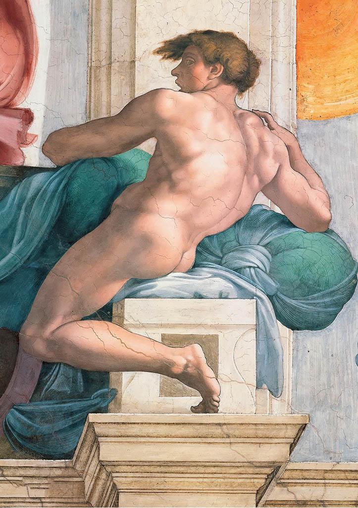 """Микеланджело Буонарроти (Michelangelo Buonarroti), """"Иньюди - 3"""""""