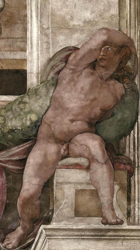 """Микеланджело Буонарроти (Michelangelo Buonarroti), """"Иньюди - 4"""""""