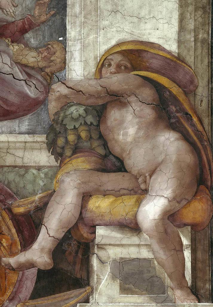 """Микеланджело Буонарроти (Michelangelo Buonarroti), """"Иньюди - 5"""""""