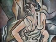"Юрий Анненков (Yuri Annenkov) ""Женский портрет - 2 (Воспоминания о днях прошедшей молодости) | Woman portrait - 2"""