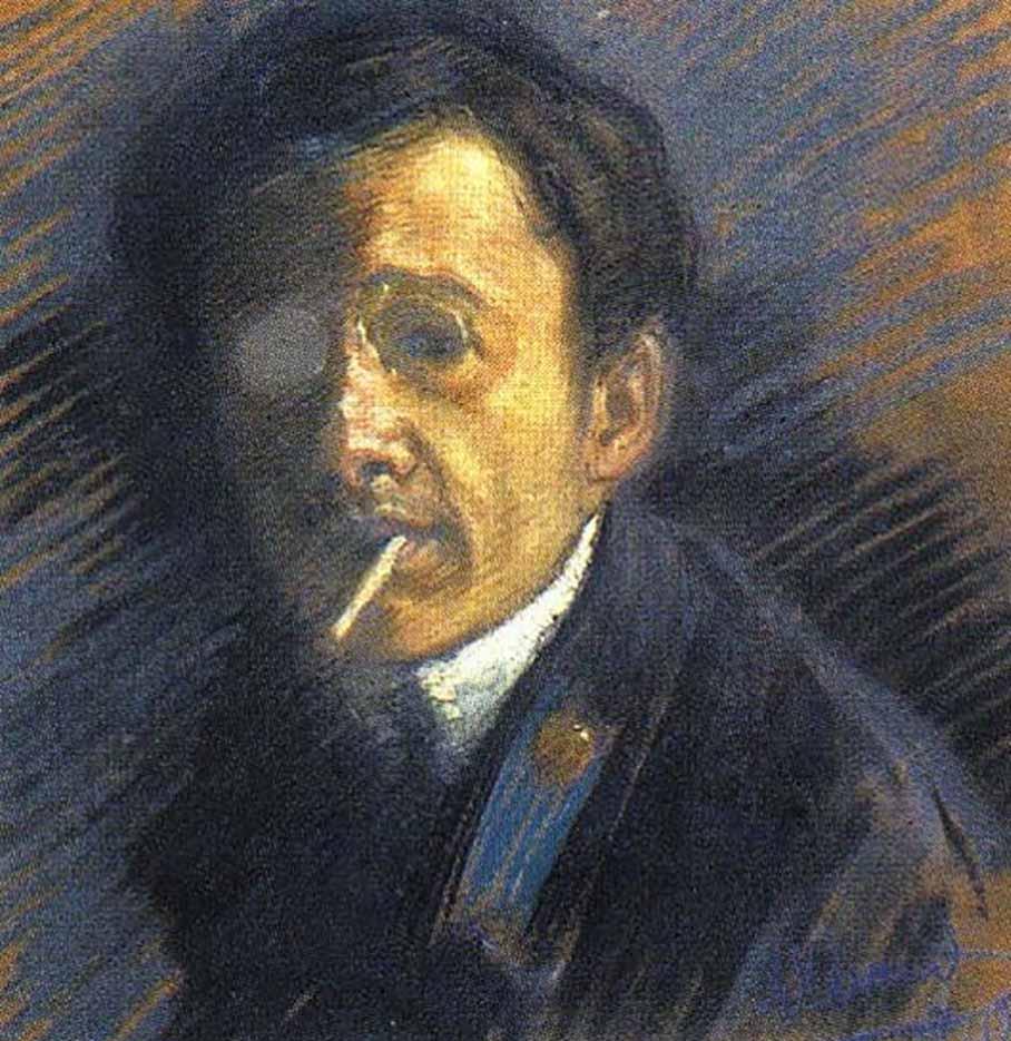 "Юрий Анненков (Yuri Annenkov) ""Self-portrait"""