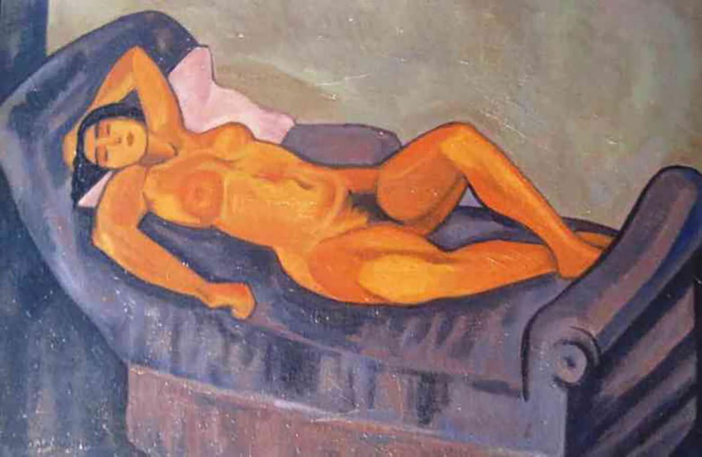 """Юрий Анненков (Yuri Annenkov) """"Hommage a Modigliani"""""""