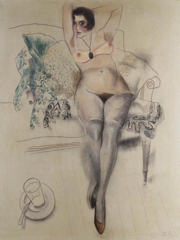 "Юрий Анненков (Yuri Annenkov) ""Reclining nude"""
