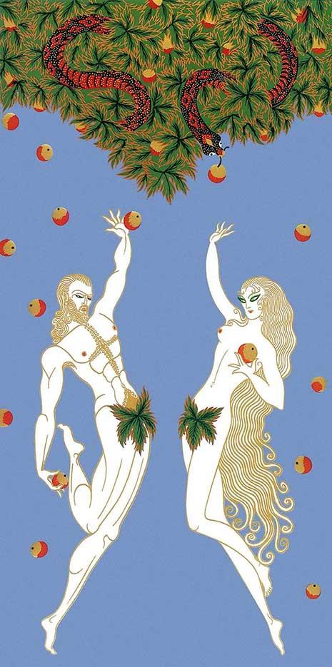 "Юрий Анненков (Yuri Annenkov) ""Adam and Eve - 2"""