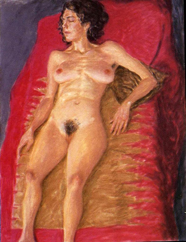 "Авигдор Ариха (Avigdor Arikha) ""Stripped on red"""