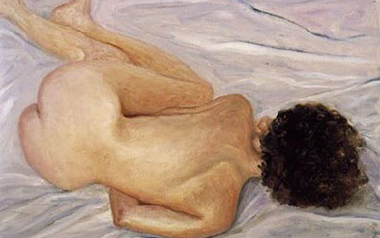 "Авигдор Ариха (Avigdor Arikha) ""Повернутая обнаженная | Turned Nude"""
