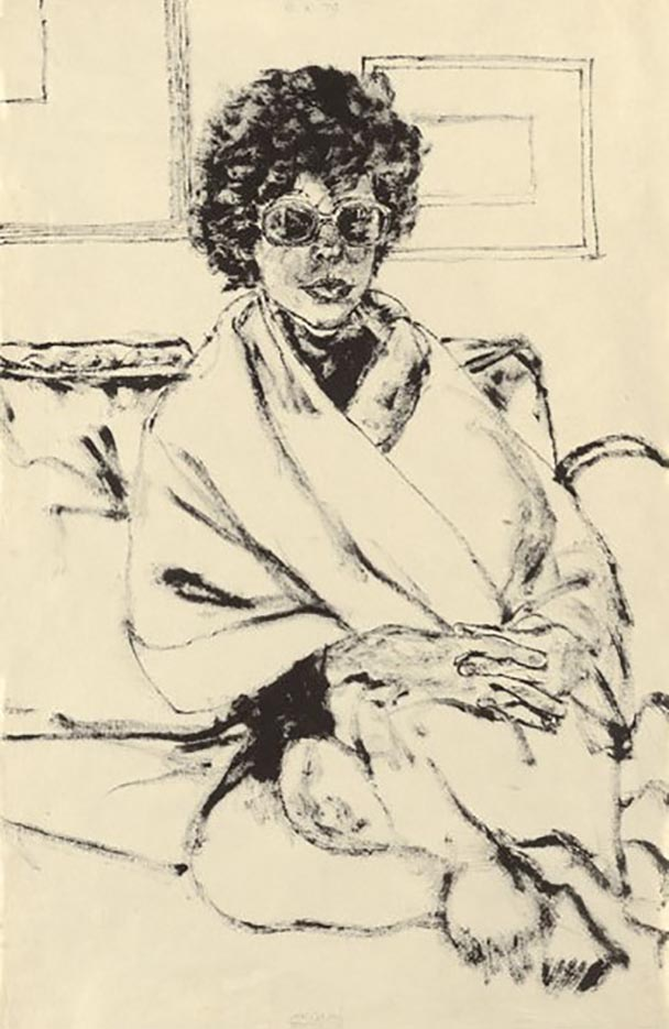 "Авигдор Ариха (Avigdor Arikha) ""Анна в платке и темных очках | Anne in Shawl and Dark Glasses"""
