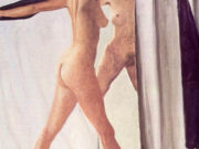 "Авигдор Ариха (Avigdor Arikha) ""Обнаженная с шалью перед зеркалом | Nude with a shawl in front of a mirror"""