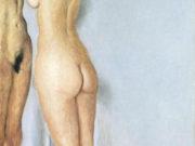 "Авигдор Ариха (Avigdor Arikha) ""Обнаженная у зеркала | Nude at the mirror"""