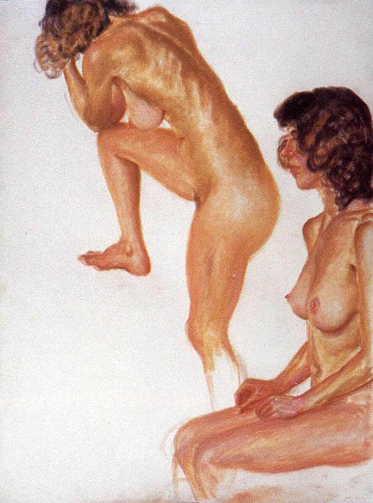 "Авигдор Ариха (Avigdor Arikha) ""Две обнаженные | Two naked"""