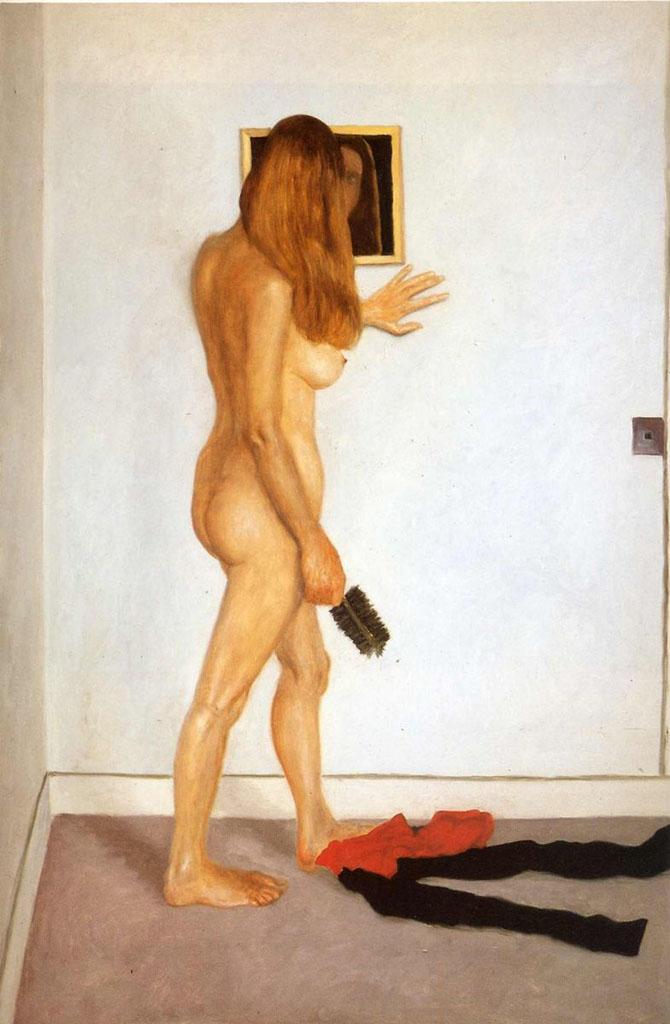 "Авигдор Ариха (Avigdor Arikha) ""Обнаженная у зеркала (2) | Mirror on the Wall"""