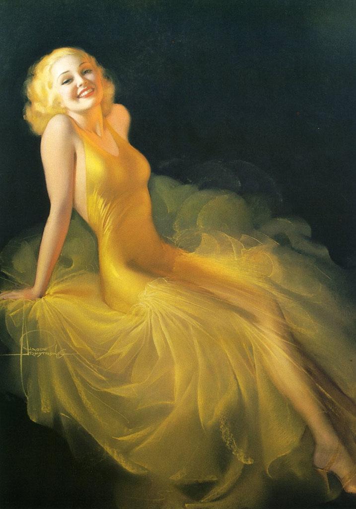 "Рольф Армстронг (Rolf Armstrong) ""Golden Girl"""
