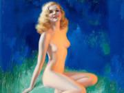 """Рольф Армстронг (Rolf Armstrong) """"Venus, calendar print illustration"""""""