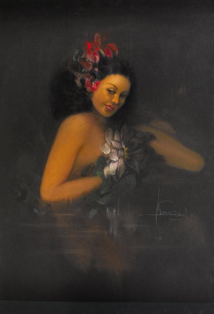 """Рольф Армстронг (Rolf Armstrong) """"Tahitian Nude"""""""