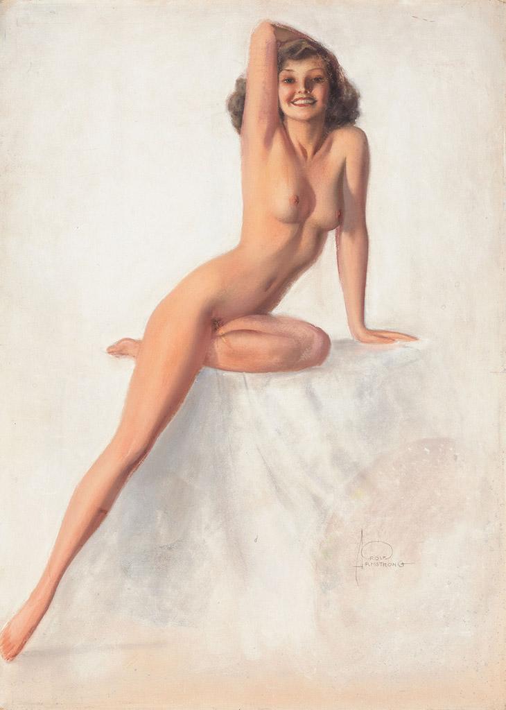 "Рольф Армстронг (Rolf Armstrong) ""Nude with Right Arm on Head"""