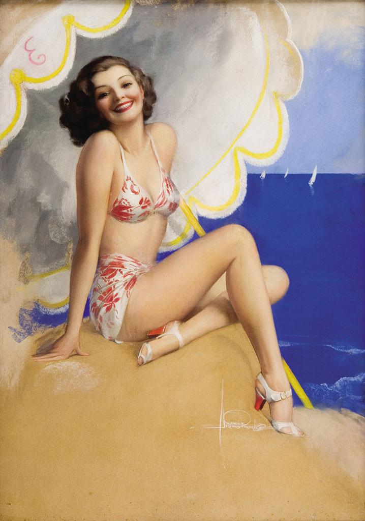 """Рольф Армстронг (Rolf Armstrong) """"Beach Beauty"""""""
