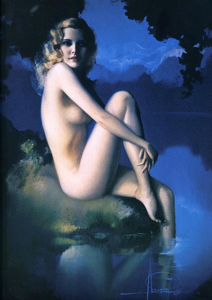 "Рольф Армстронг (Rolf Armstrong) ""Artist's Model"""