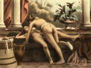 """Эдуар Анри Авриль (Edouard-Henri Avril) """"De Figuris Veneris - 16"""""""