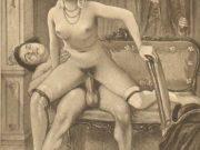 "Эдуар Анри Авриль (Edouard-Henri Avril) ""Fanny Hill Illustration VI"""