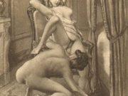 "Эдуар Анри Авриль (Edouard-Henri Avril) ""Fanny Hill Illustration VIII"""