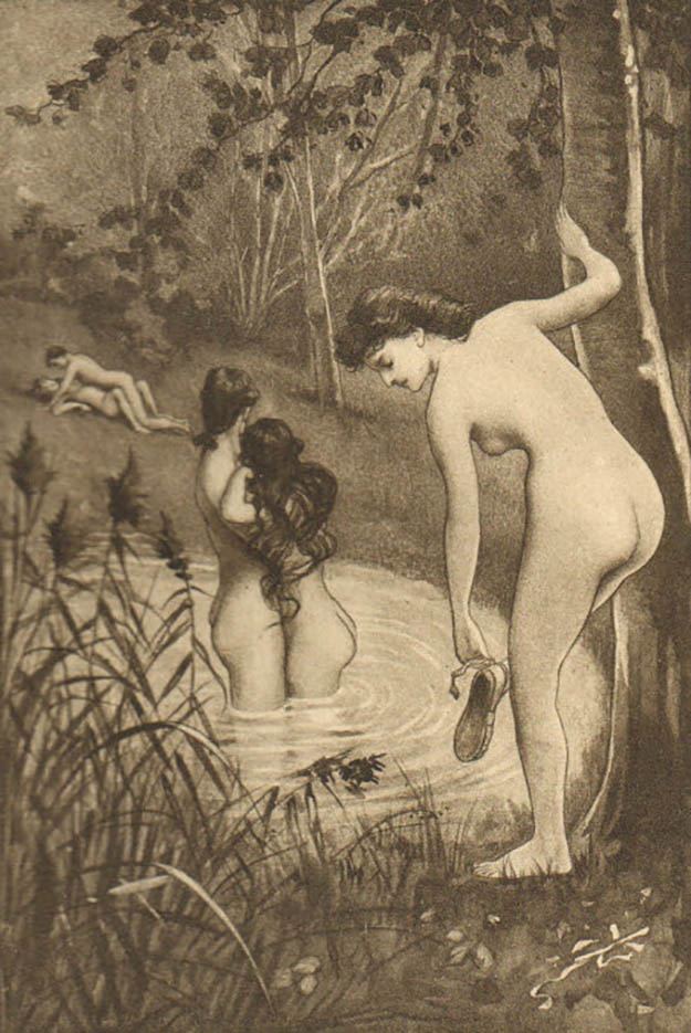 "Эдуар Анри Авриль (Edouard-Henri Avril) ""Fanny Hill Illustration XI"""