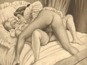 "Эдуар Анри Авриль (Edouard-Henri Avril) ""Fanny Hill Illustration XII"""