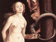 "Ханс Бальдунг (Hans Baldung) ""Ева, Змей и Смерть 