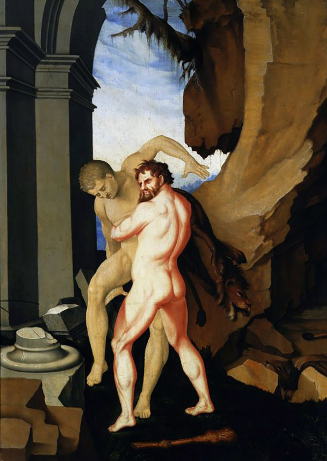 "Ханс Бальдунг (Hans Baldung) ""Геракл и Антей (3) 
