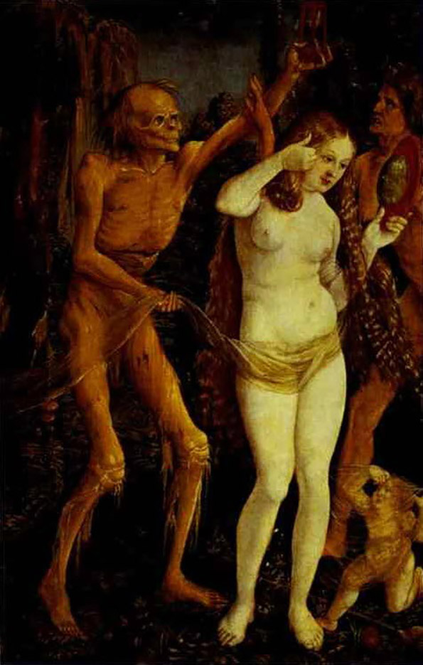 "Ханс Бальдунг (Hans Baldung) ""Девушка и смерть 
