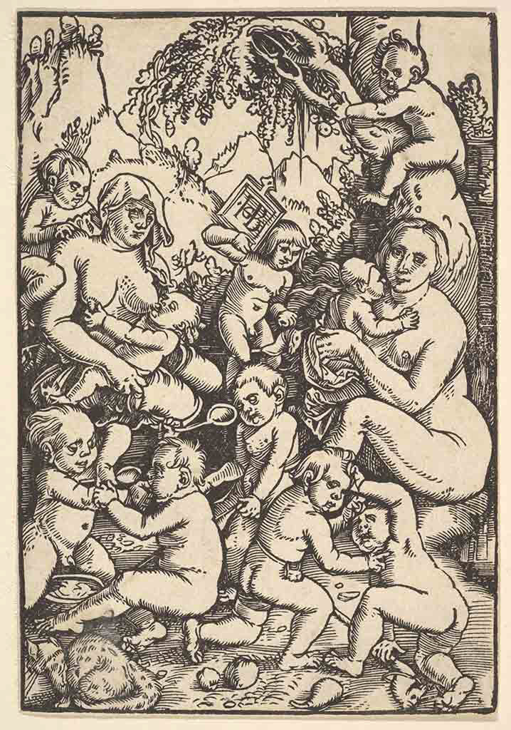 "Ханс Бальдунг (Hans Baldung) ""Две матери с детьми 