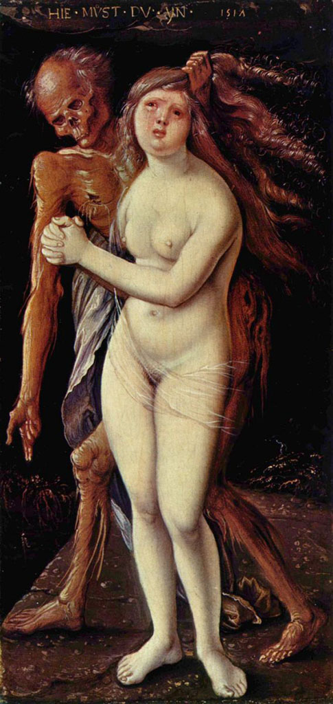 "Ханс Бальдунг (Hans Baldung) ""Смерть и девушка (3) 