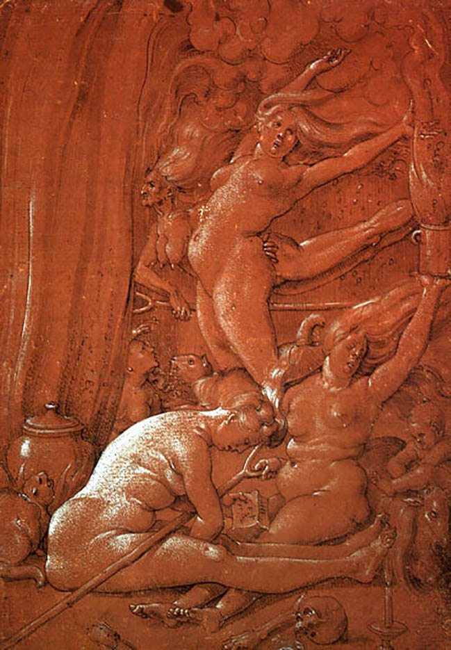 "Ханс Бальдунг (Hans Baldung) ""Departing For The Sabbath"""