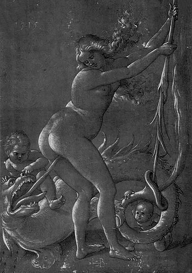 "Ханс Бальдунг (Hans Baldung) ""Ведьма и Дракон 