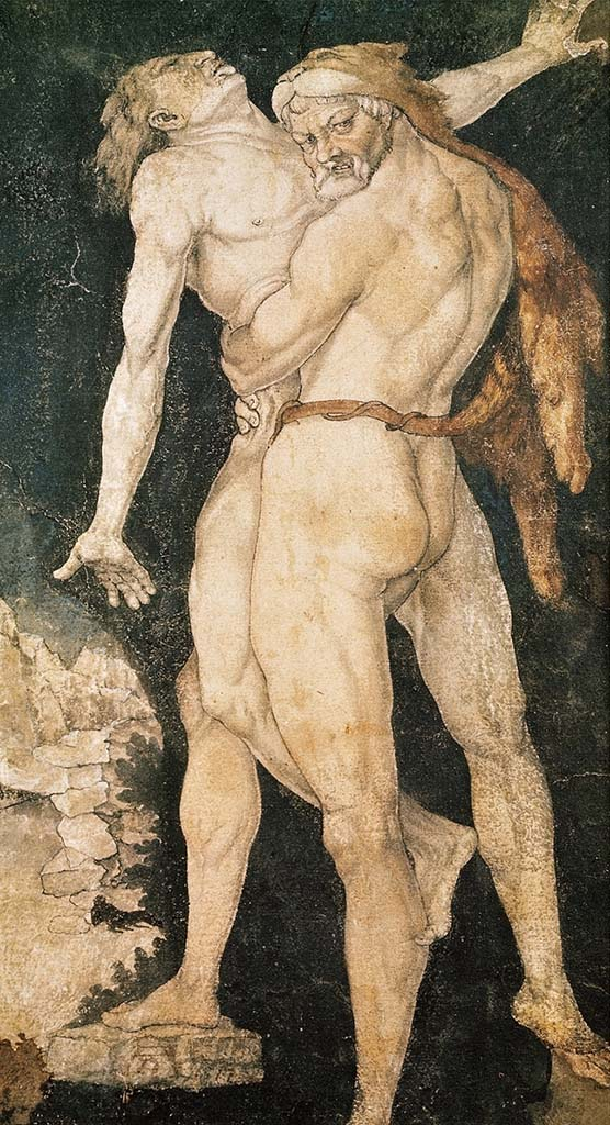 "Ханс Бальдунг (Hans Baldung) ""Геракл и Антей 
