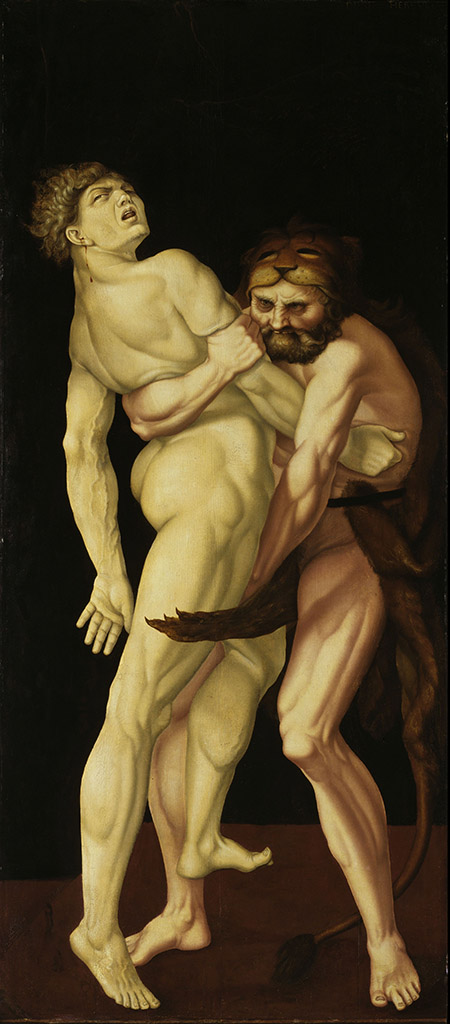 "Ханс Бальдунг (Hans Baldung) ""Геракл и Антей (2) 