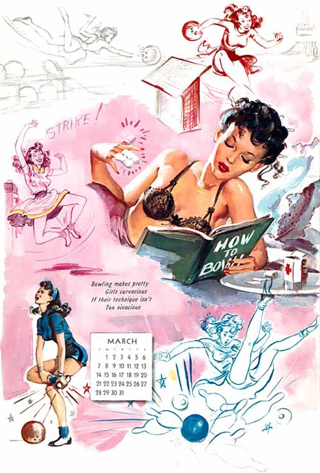 Джойс Баллантайн (Joyce Ballantyne), Pin Up Calendar March