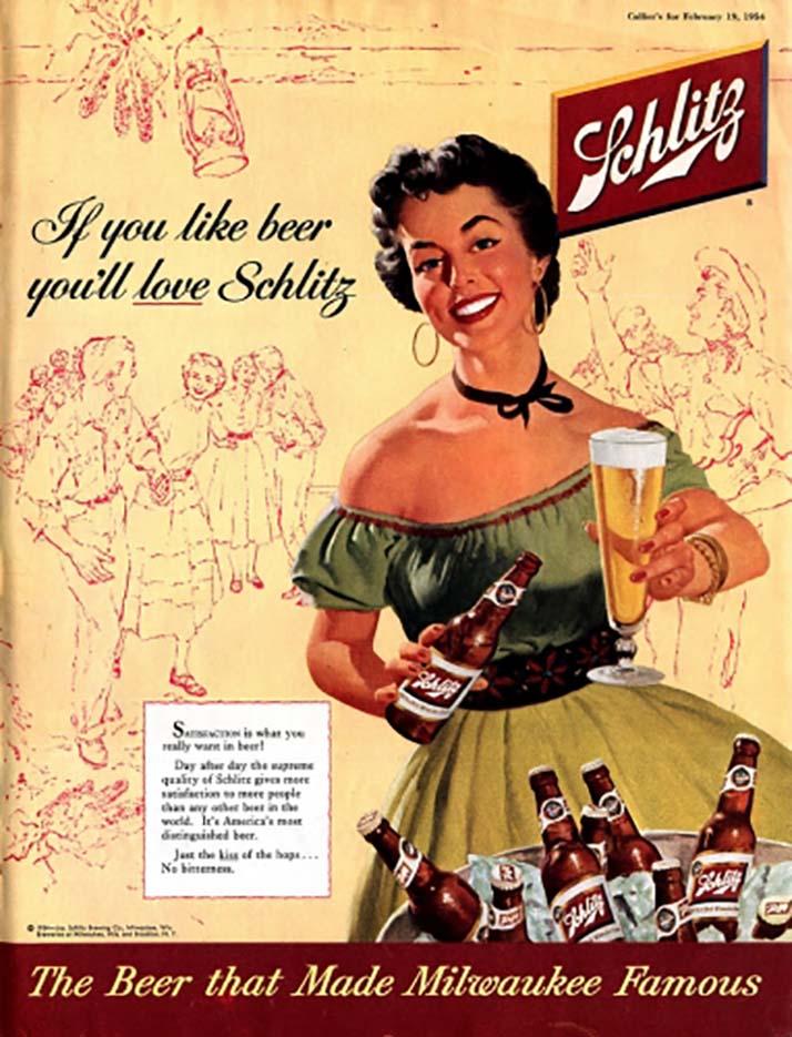 "Джойс Баллантайн (Joyce Ballantyne), Реклама пива ""Schlitz"""