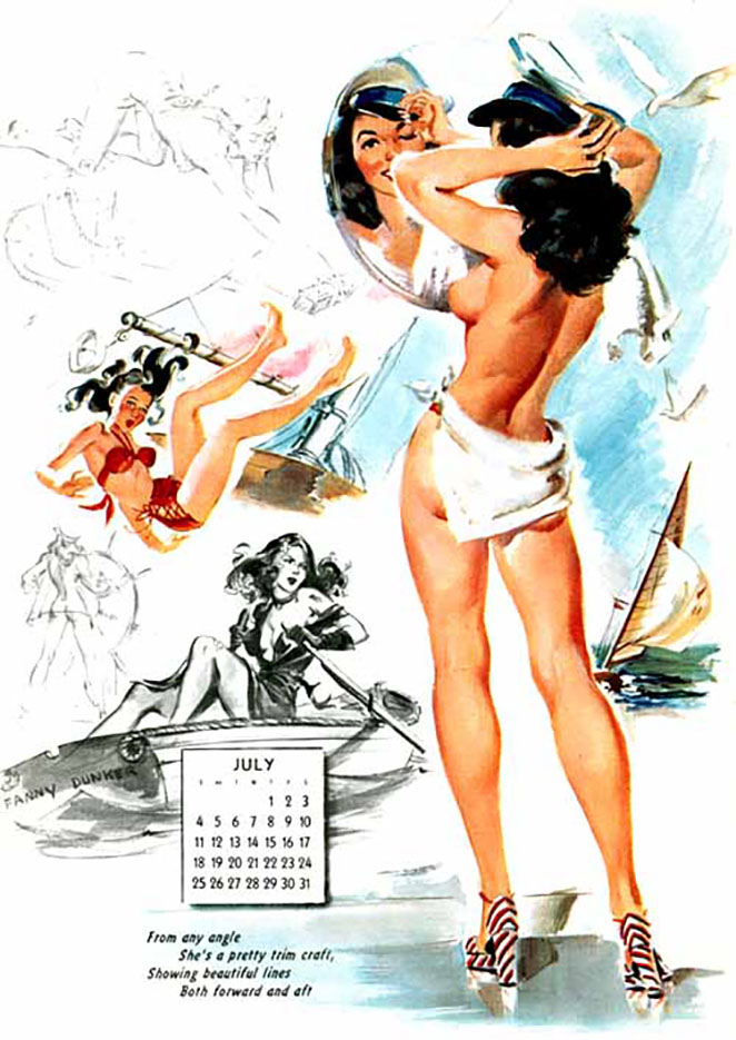 Джойс Баллантайн (Joyce Ballantyne), Pin Up Calendar July