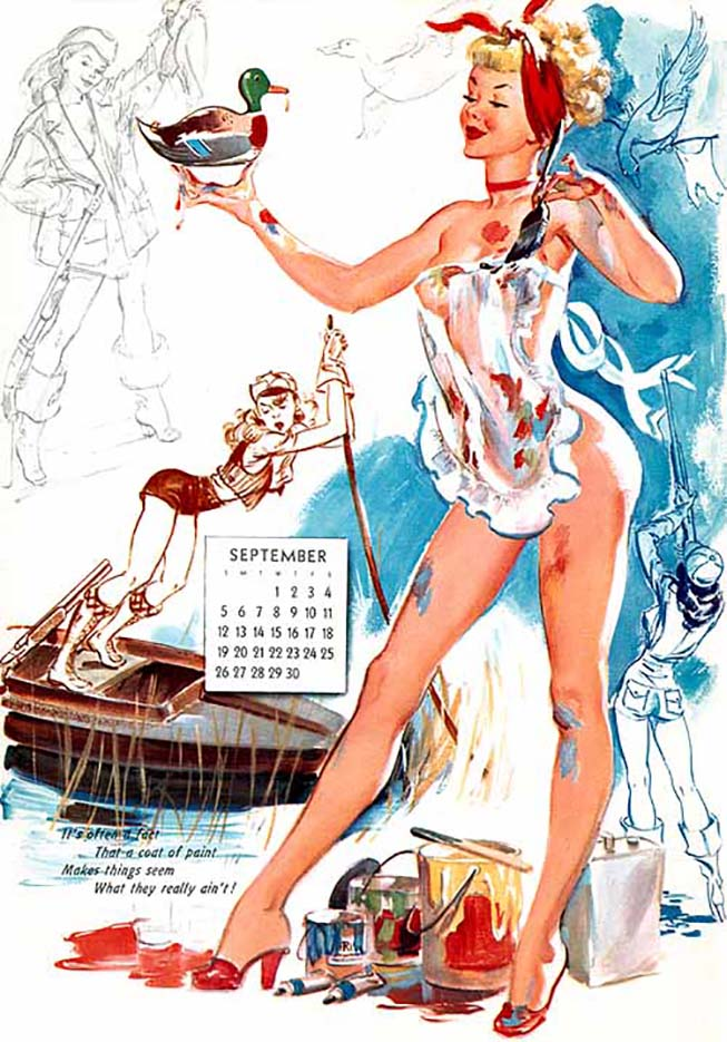 Джойс Баллантайн (Joyce Ballantyne), Pin Up Calendar September