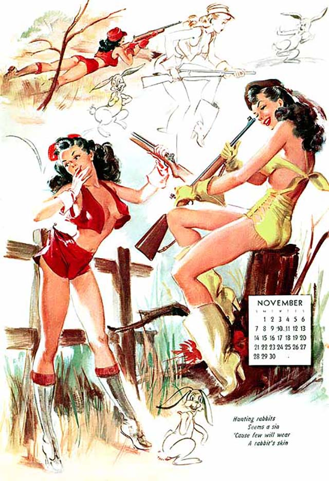 Джойс Баллантайн (Joyce Ballantyne), Pin Up Calendar November