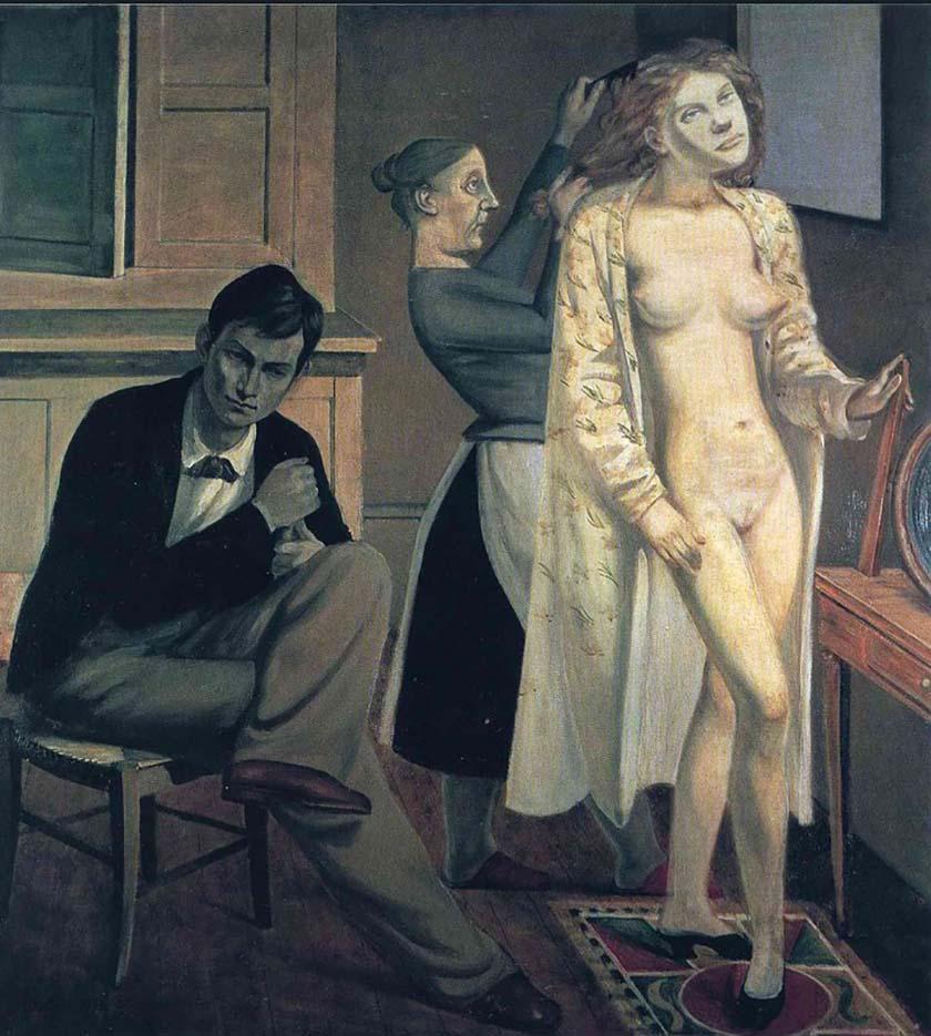 """Бальтюс (Бальтазар Клоссовски де Рола), Balthus (Balthasar Kłossowski de Rola) """"Cathy's toilette"""""""
