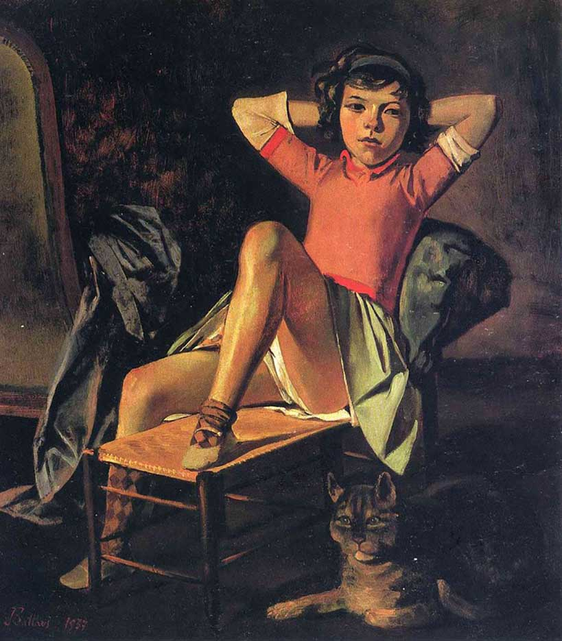"""Бальтюс (Бальтазар Клоссовски де Рола), Balthus (Balthasar Kłossowski de Rola) """"Girl and Cat"""""""