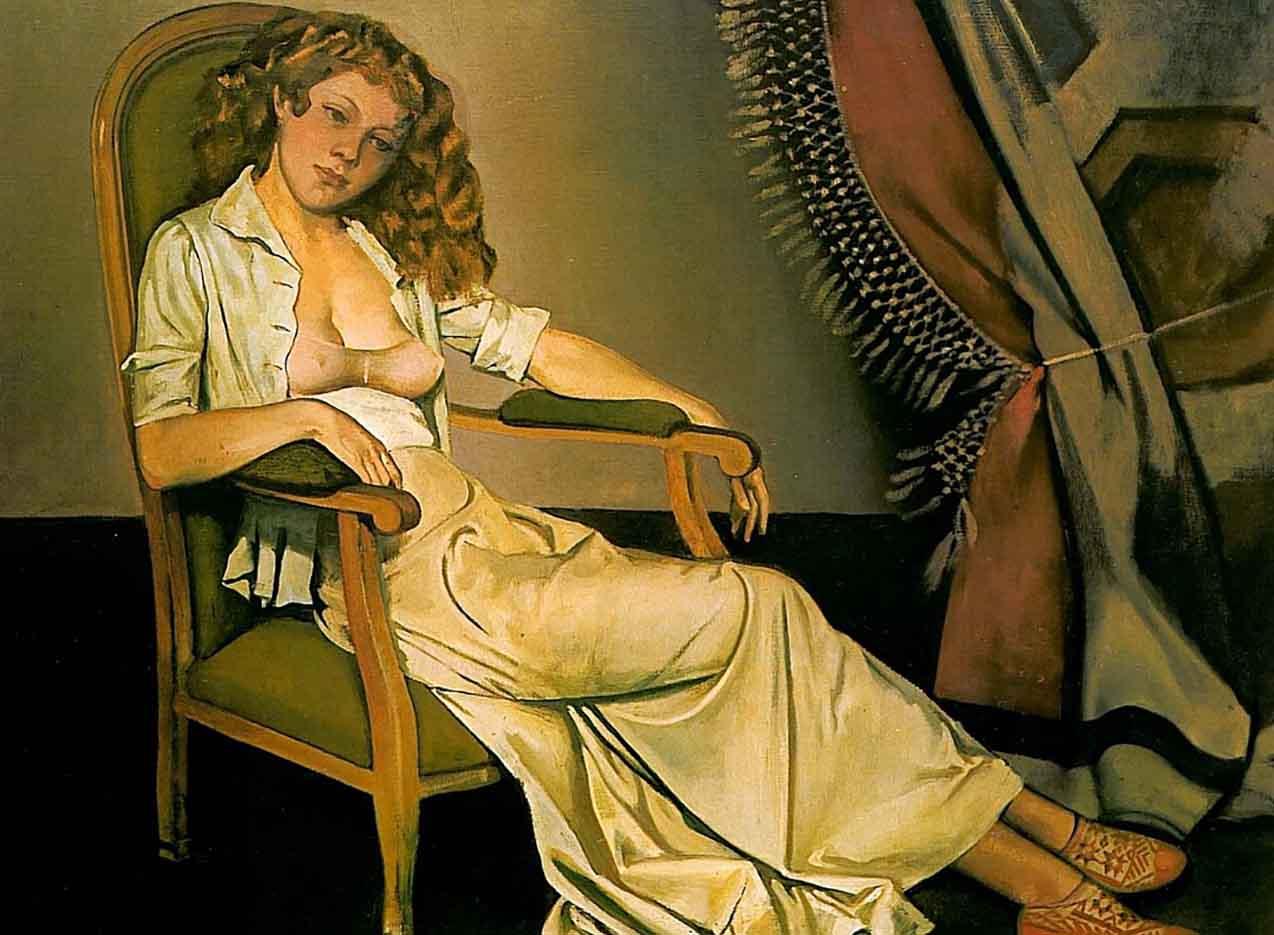 "Бальтюс (Бальтазар Клоссовски де Рола), Balthus (Balthasar Kłossowski de Rola) ""The white skirt"""